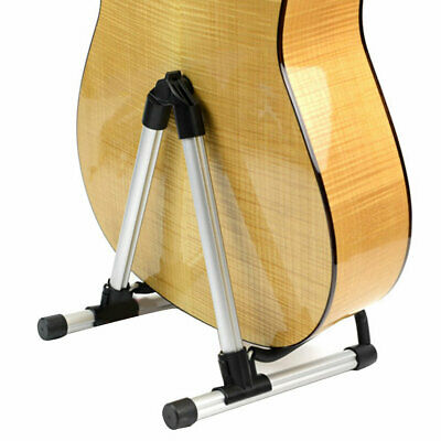 Folding Electric Acoustic Bass Guitar Stand A Frame Floor Rack Holder WS