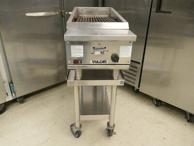 "Vulcan VTEC14 Infrared 14"" Gas Charbroiler Meats Steak Chicken Chops On Stand"