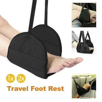 Travel Foot Rest Footrest Leg Pillow Flight Memory Foam Cushion Hammock 1/2x