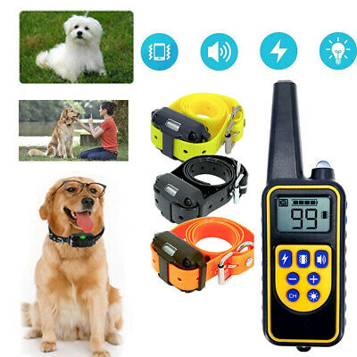 Electric Dog Pet Training Shock Collar With Remote Waterproof For Large 880 Yard