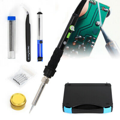 WEP 60W Electric Soldering Iron Kit Solder Welding Rework Tool Stand 5 Tips Safe