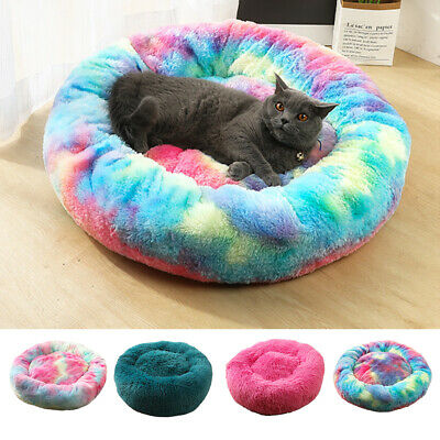 Dog Pet Cat Calming Bed Large Mat Comfy Puppy Washable Fluffy Cushion Plush Beds