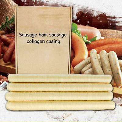 Natural Sausage Casing Skins Collagen Casings For Smoked Fresh Hot Dog 14M*26mm