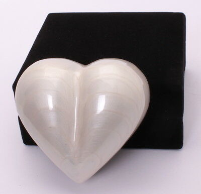 Mini Cremation Urn For Ashes Funeral Memorial Small White Heart Keepsake & box
