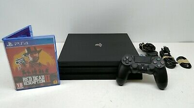 Sony Playstation 4 Pro 1Tb Black Console (Ps4) With Red Dead Redemption Ii