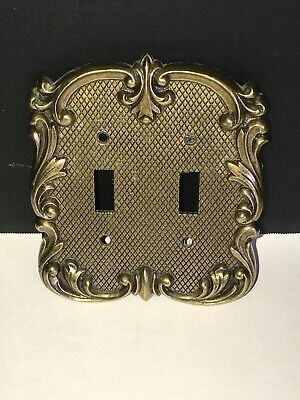 Vintage Ornate National Lock Double Toggle Light Switch Plate Cover