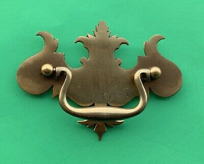 """Antique Hardware Solid Brass Batwing Chippendale Drawer Pull Handle...3""""centers"""