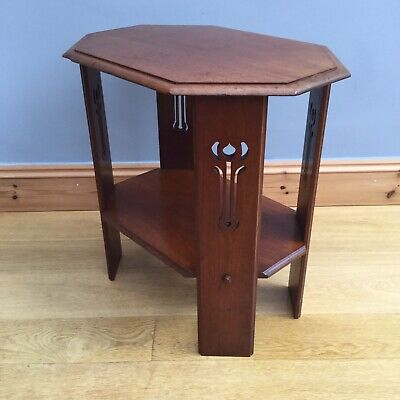 Antique Art Nouveau Occasional Table Old Arts & Crafts Vintage Old Liberty Style