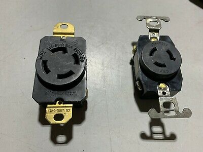 Two 15A 250V Recepticals Legrand 4 and 3 Prong L15-30R and ?, used?