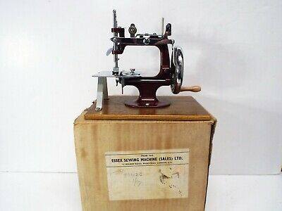 Essex Miniature Sewing Machine Table Top Working Old Boxed (Am444)