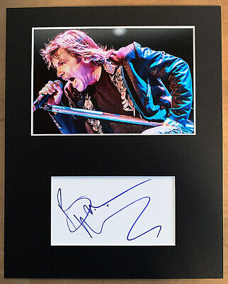 BRUCE DICKINSON HAND SIGNED Autograph Mounted With Photo IRON MAIDEN Samson