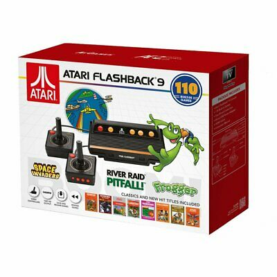 Atari Flashback 9 - 2 Controllers - 110 Built In Games  Frogger (New & Sealed)