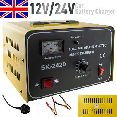 15A 12V 24V Automatic Smart Pulse Repair Motorcycle Car Battery Charger Starter