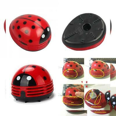 Chofit Adorable Mini Desk Cleaner, Portable Beetle Vacuum Cleaner Crumb Red