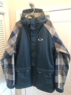 New Mens Oakley Bonk Red and Grey Plaid Snowboard Ski Jacket