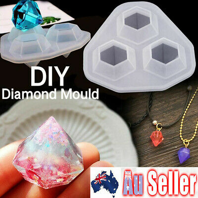 Silicone Diamond Jewelry Pendant Making Mold Resin Casting Epoxy Mould Craft DIY