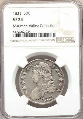1831 NGC VF25 Capped Bust Silver Half Dollar Best Price on eBay Type Coin