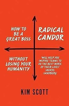 Radical Candor: How to be a Great Boss Without L... | Book | condition very good