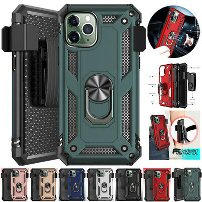 Hybrid Bumper Armor Case for iPhone 11 Pro XS Max XR X 6s 7 8 Ring Holder Cover