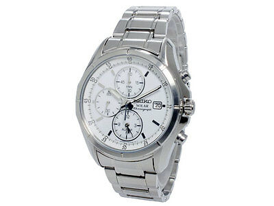 Seiko Solar Chronograph Stainless Steel Men's Watch SSC003P1