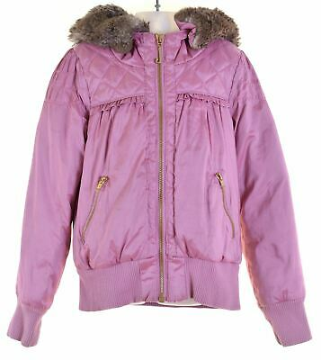 JUICY COUTURE Girls Padded Jacket 9-10 Years Pink Polyester  HY05