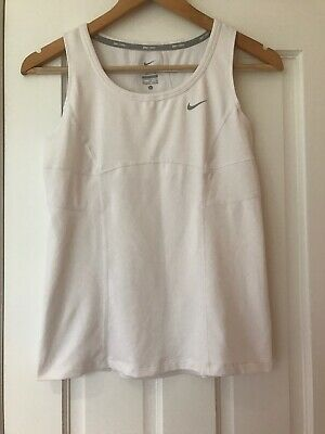 Nike Tennis Top Sleeveless White Aged 13-15 Years Dri-Fit