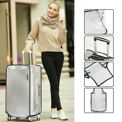 Travel Transparent PVC Baggage Protector Dust proof Storage Case Suitcase Cover