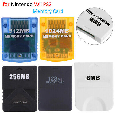 128MB/256MB/512MB Memory Card Data for PlayStation PS2 Wii NGC GameCube Console