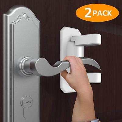 Child Baby Safety Lock, Child Proof Doors & Handles with 3M Adhesive - 2 Pac