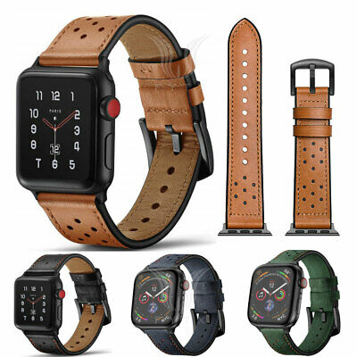 For Apple Watch Series 5 4 3 2 1 Real Genuine Leather Strap iWatch Band Bracelet