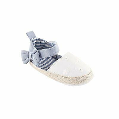 Luvable Friends Girl's Bow Espadrille Sandal, Chambray, Size 6.0 fVdb US / 5 UK