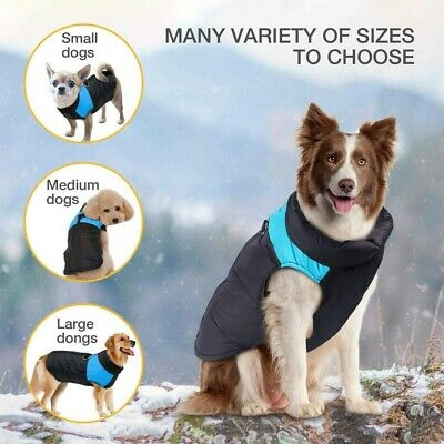 Winter Dog Clothes Small Large Big Dogs Waterproof Pet Coats Vest Jacket  S-5XL