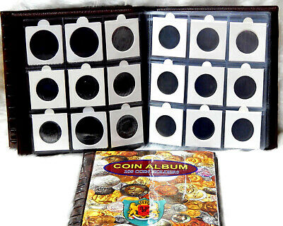 """Premier World Class 108 Coin Album stock Book for 2x2"""" Coin Holders 12 Pages"""