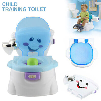 Music Kids Training Potty Toilet Safety Baby Trainer Toddler Cute Cartoon Seat