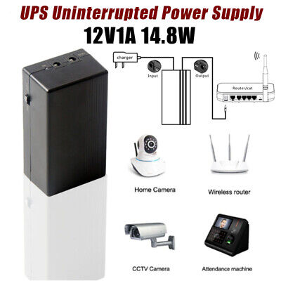12V1A 14.8W UPS Uninterrupted Power Supply Backup Power Mini Battery for Camera