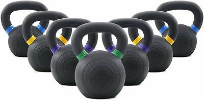 POWER GUIDANCE Cast Iron Kettlebell Weights, Powder Coated, LB and KG Markings