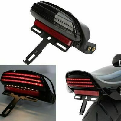 Tri-Bar Fender LED License Plate Bracket Tail Light For Harley Softail FXST New
