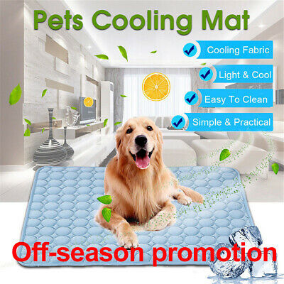 1x Pet Dog Cat Cool Mat Self Cooling Pad Bed Mattress Heat Relief Non-Toxic UK