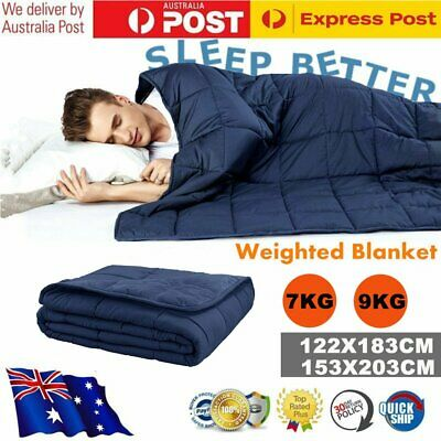 Premium Weighted Blanket Heavy Gravity Reduce Anxiety Queen Double Size 7/9KG