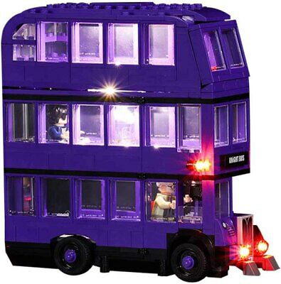 LED Light Up Kit For LEGO 75957 The Knight Bus Lighting Set PVC Building Kit Bus