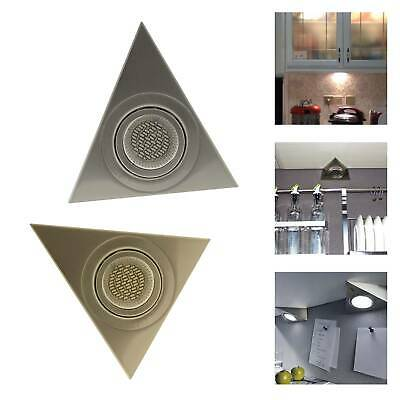 Led Mains 3.5W Kitchen Under Cabinet Cupboard Triangle Light Kit Cool White Warm