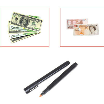 2pcs Currency Money Detector Money Checker Counterfeit Marker Fake  Tester C_W