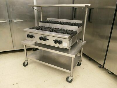 """Vulcan VHP636U Gas 36"""" 6 Burner Step Up Cooking Range With Equipment Stand"""