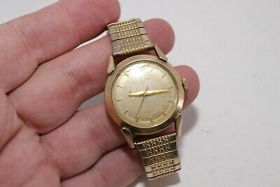 Vintage Seth Thomas 10K Gold Filled Automatic Mens Watch 33mm Dress For Repair