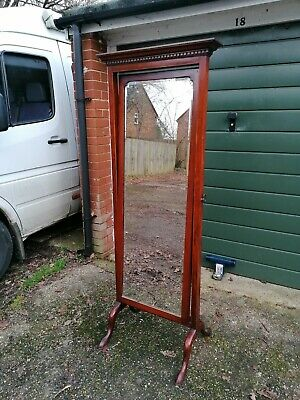 Antique Edwardian Cheval mirror