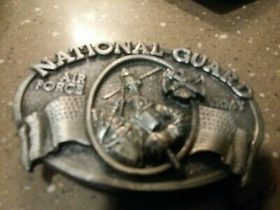 Vtg Grizzly Mounted Infantry Belt Buckle National Guard Military California Army