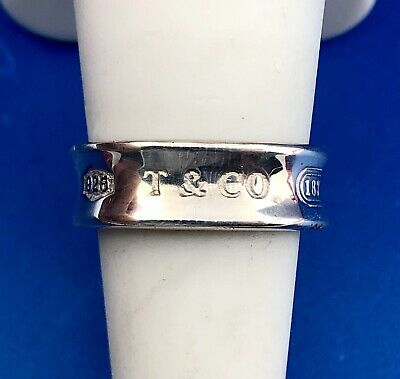 Tiffany & Co 925 Sterling Silver High Polished Concave 1837 1997 Band Ring