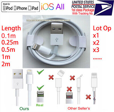 OEM Original Lightning to USB Charging Cable for Apple iPhone 11 XS XR X 8 7 6 5