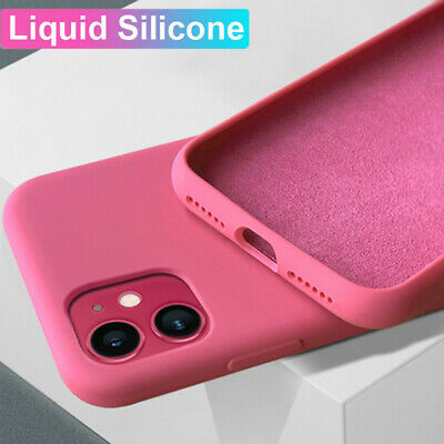 Liquid Silicone Phone Case Cover For iPhone 11 Pro Max XS XR X 8 7 6S Plus 5 SE