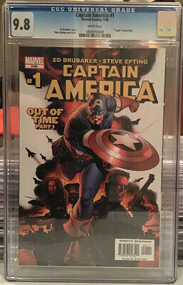 1998 #1 CGC NM//M 9.8 White Pages Captain America